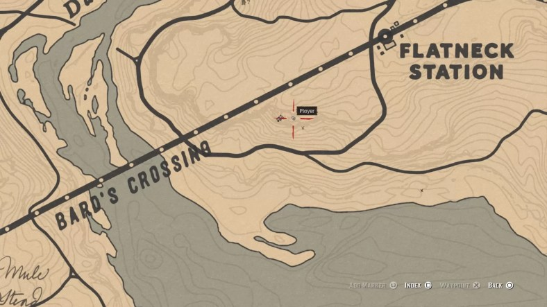 Red Dead Online Bard's Crossing Treasure Guide – Map