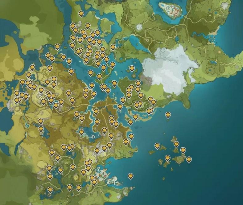 Panduan Lokasi Geoculus Genshin Impact
