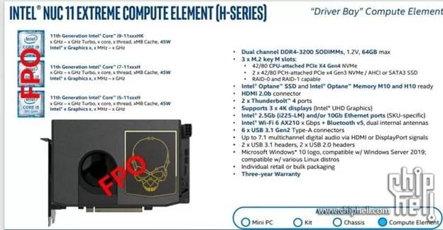 Intel NUC 11 Extreme