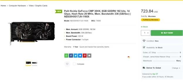 Harga Nvidia CMP 30HX