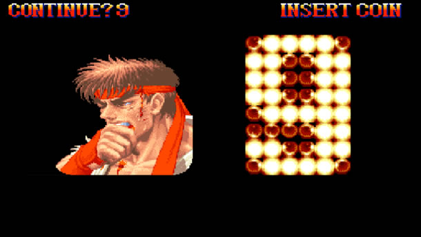 Tela de continue de Street Fighter II