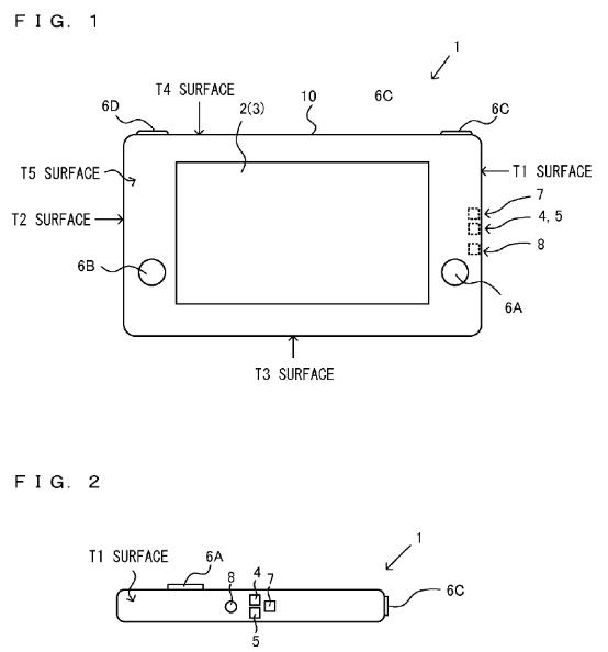 Desenho da Patente da do controle de movimento da Nintendo