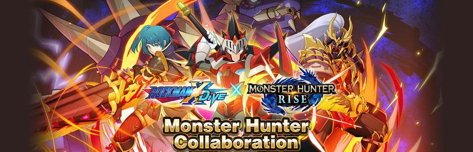 Mega Man X Dive Receberá Evento Colaborativo com Monster Hunter Rise