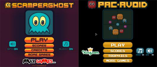 A gauche : le jeu original. A droite : le plagiat de King.Com