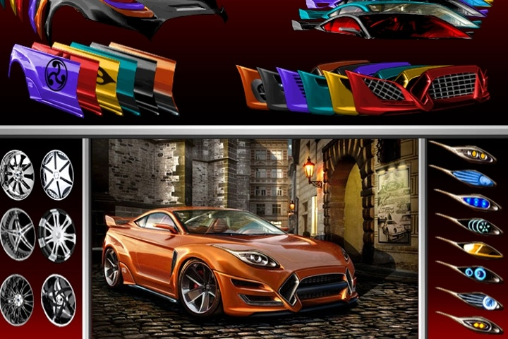 Sports Car Designer Game   Boys games   Games Loon Sports Car Designer Game