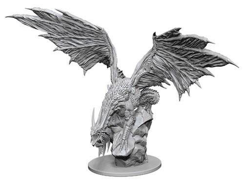 Pathfinder Deep Cuts Unpainted Miniatures Silver Dragon