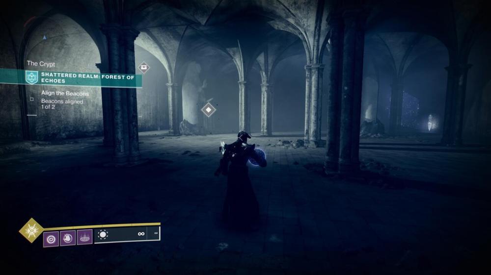 Apportez l'orbe dans la crypte cachée sous le mausolée, puis préparez-vous pour un combat avec un boss Taken.