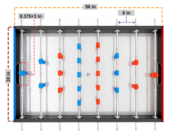 Official Foosball Table Dimensions
