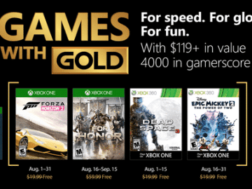 Games with Gold August Media Asset