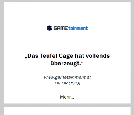 Teufel Cage Test