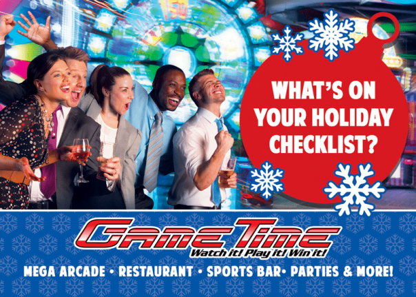 Book your awesome corporate holiday party at GameTime Arcade Restaurant Sports Bar in Miami Tampa Fort Myers