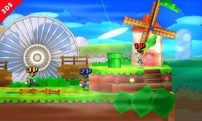 SSB 3DS Paper Mario Stage - 1