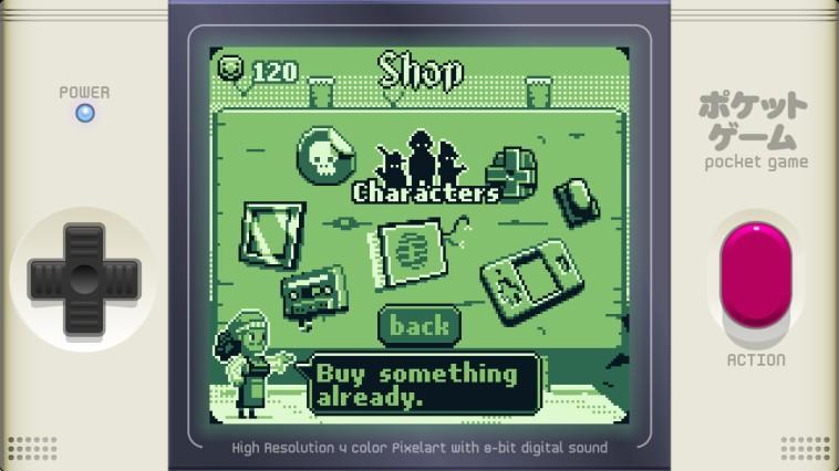 Die Auswahl des Shops ist, für ein so kleines Spiel, bemerkenswert.