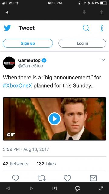 GameStop Xbox One X