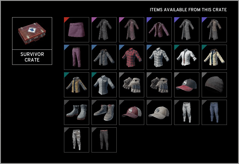 PUBG Survivor Crate