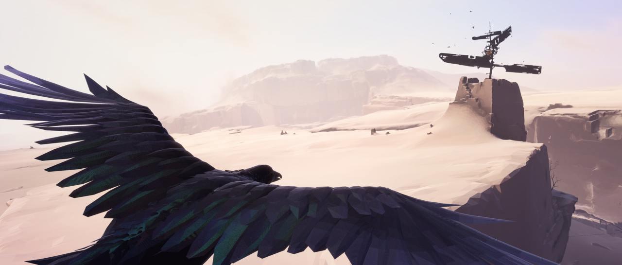 Im Indie-Spiel Vane für PS4 steuern wir einen Vogel