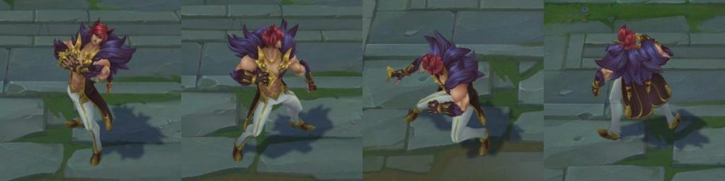 Pictures of the new champion Sett in game model.