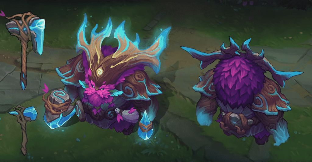The new Ornn skin for League in 2020.
