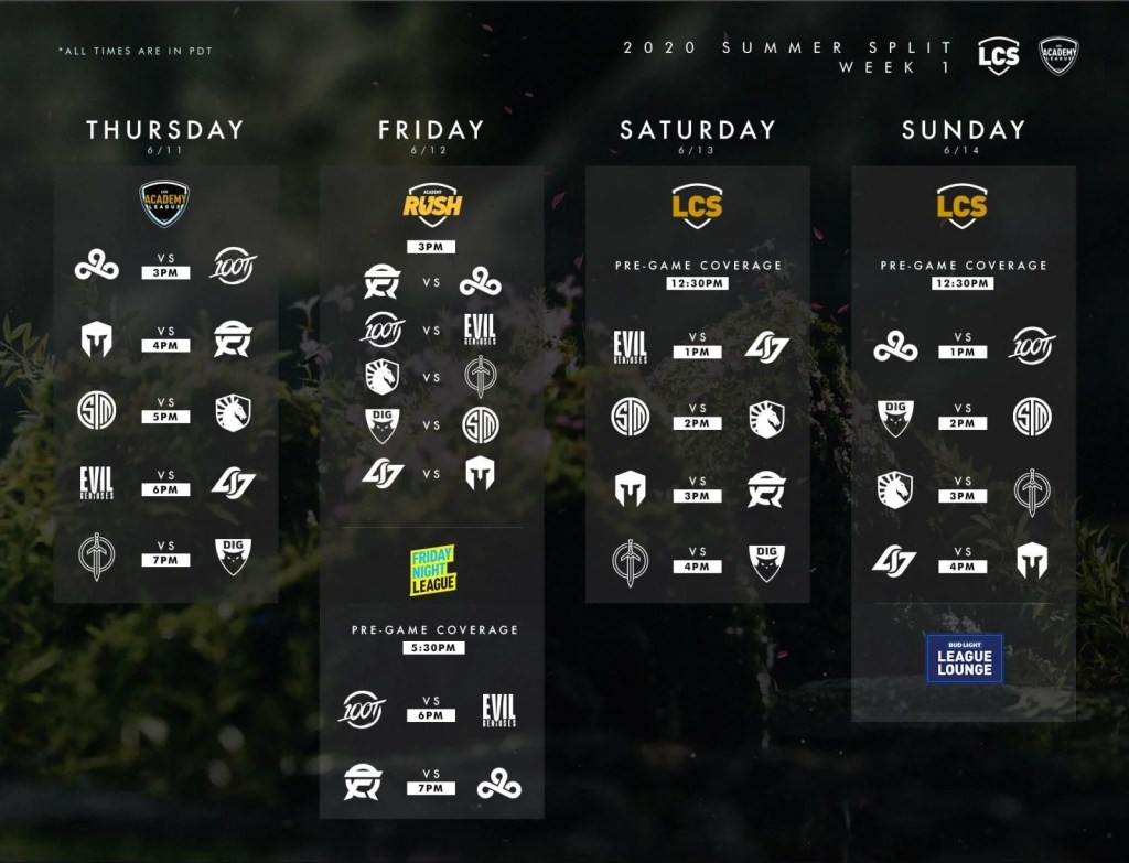 LCS Schedule