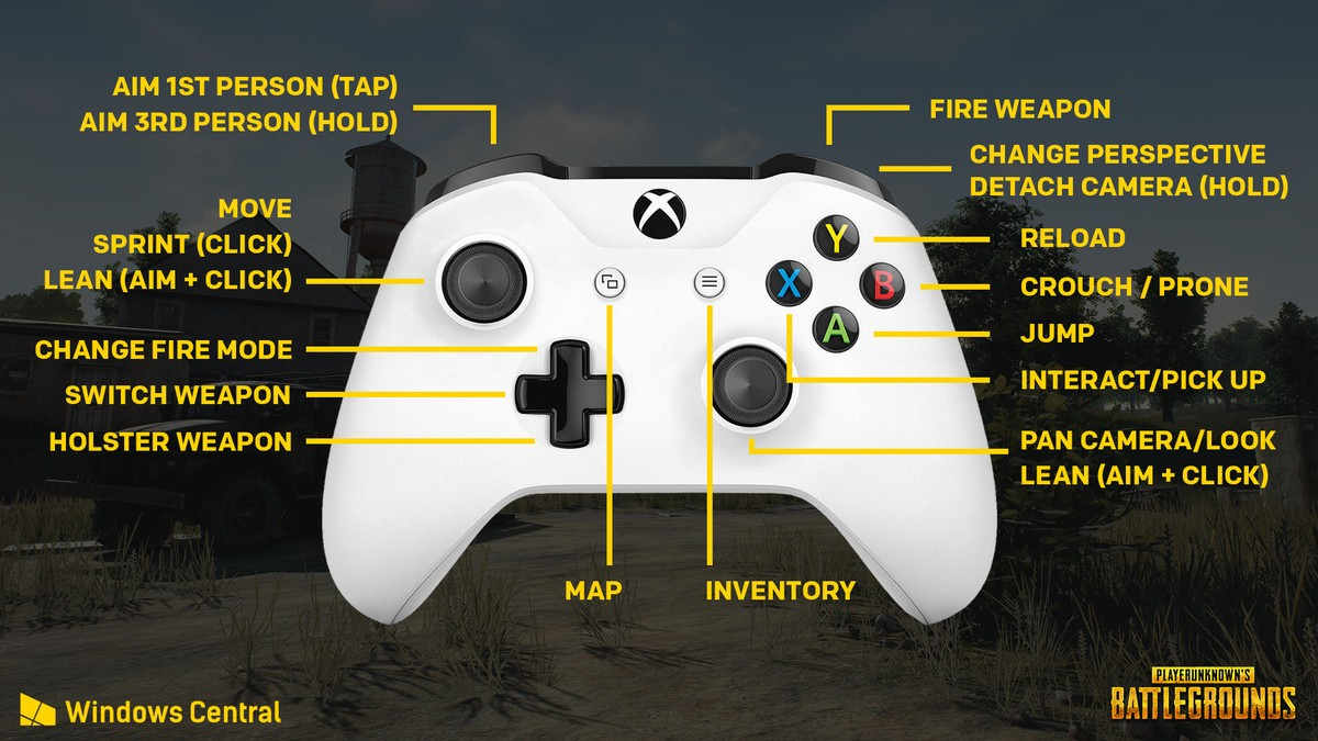 Heres The Control Scheme For PUBG On Xbox One GameZone