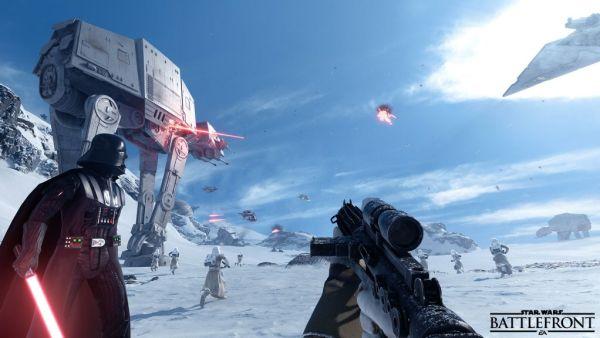 Star Wars Battlefront Hoth Vader