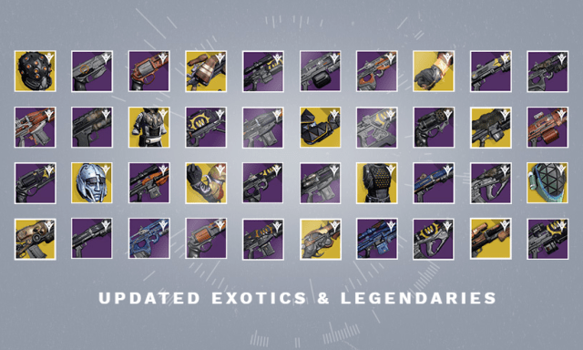 A bunch of Year One Legendaries and Exotics are coming back with the April Update.