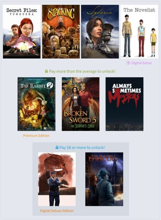 Humble Weekly Bundle Adventures! 2 Now Live