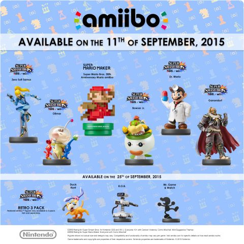 New Nintendo amiibo Figures Launching in September