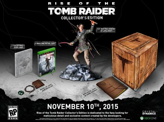 Square Enix Announces Exclusive Rise of the Tomb Raider Collector's Edition for Xbox One