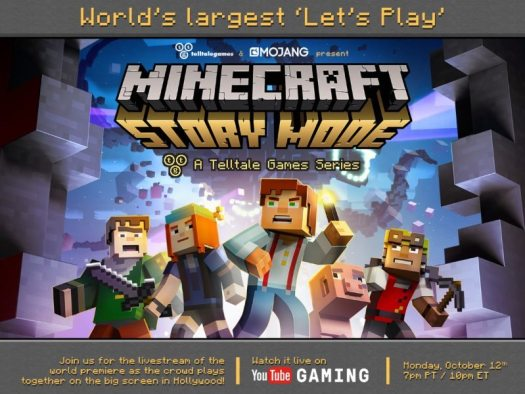 Minecraft: Story Mode - A Telltale Games Series to Livestream World's Largest Let's Play
