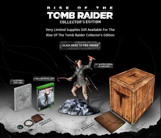 Square Enix Predicting Low Quantities for Rise of the Tomb Raider Collector's Edition