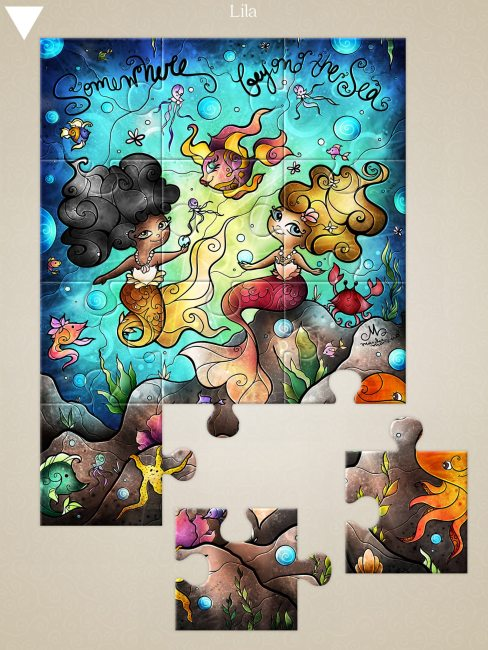 Mandie Manzano Jigsaw Puzzle Art Launching on iOS May 18