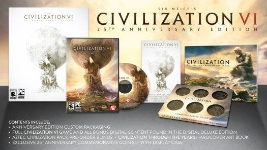 Sid Meier's Civilization VI 25th Anniversary Edition Announced by 2K