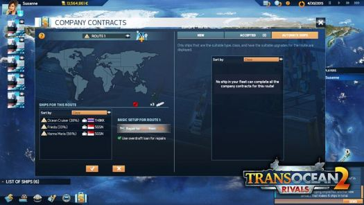 TransOcean 2: Rivals Update Brings More Fun into the High Seas with Company Contracts