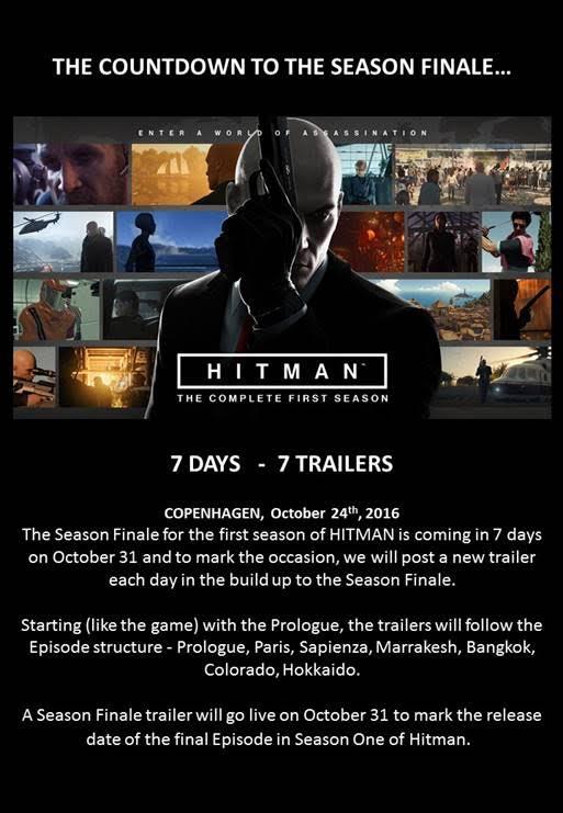 HITMAN 7 Days to Season Finale