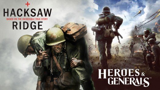 Hacksaw Ridge and Heroes & Generals Band Together on Steam