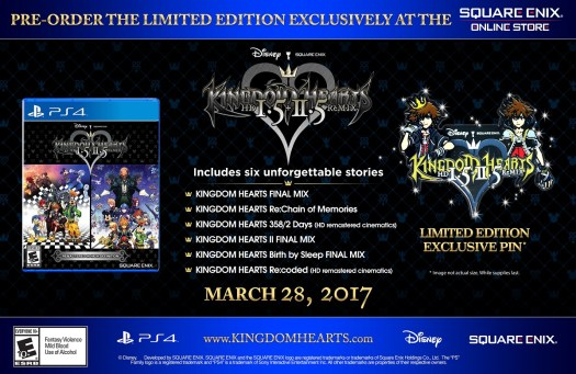 KINGDOM HEARTS HD 1.5 + 2.5 ReMIX Limited Edition Available Now for Pre-Order