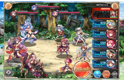 Kamihime Project Top Selling Adult Game Launched by Nutaku