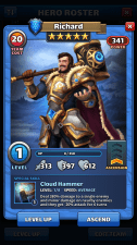 9 Empires & puzzles - Hero card