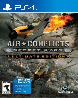 Air Conflicts Secret Wars Ultimate Edition PS4 Box Cover Gaming Cypher