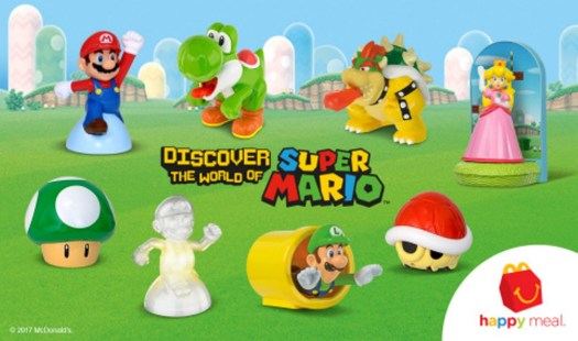 McDonald's Happy Meals Power Up with Mario and Friends-based Toys