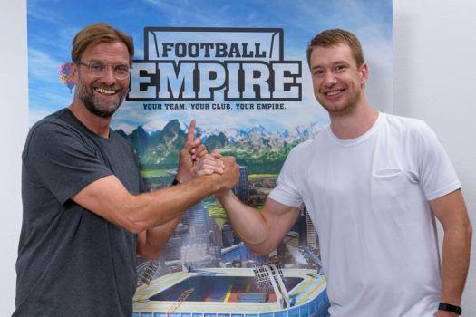 FOOTBALL EMPIRE Mobile Strategy Game Gains Star Coach Jürgen Klopp as Brand Ambassador