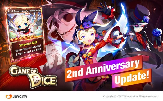 GAME OF DICE by JOYCITY Celebrates 2nd Anniversary with Huge Update