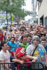 In this photo provided by Nintendo of America, fans line up outside the Manhattan Center in anticipation of the Nintendo World Championships 2017 finals. (Photo: Business Wire)