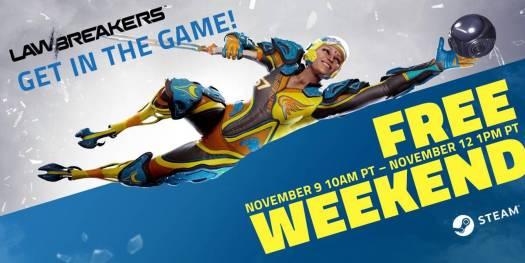 LawBreakers Steam Free Weekend Event Has Begun