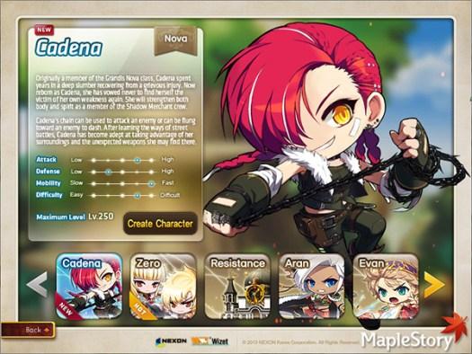 MapleStory Nova: Liberation of Cadena Update Details