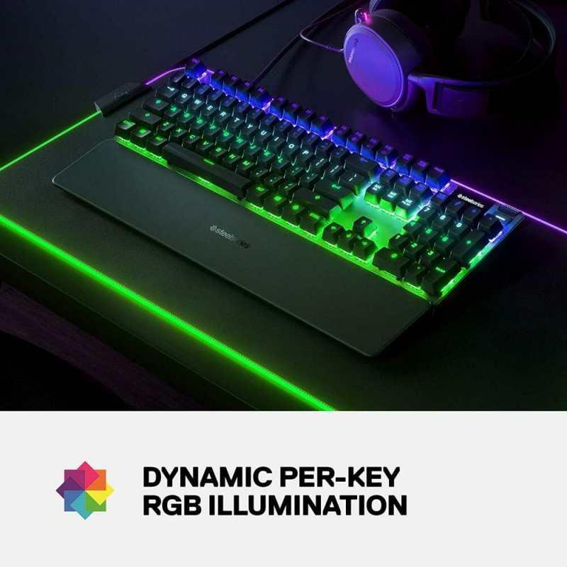SteelSeries Apex Pro RGB lighting image