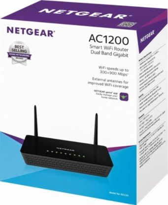 Netgear R6220 AC1200 wireless router packing