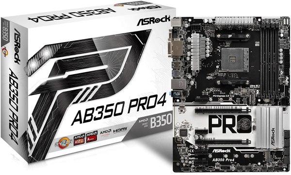 ASRock AB350 PRO4 ATX Motherboard for AMD Ryzen 7 2700X
