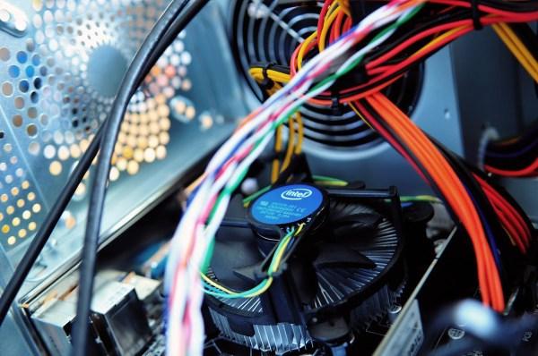 Desktop CPU with Intel Fan to cool down CPU